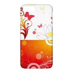 Spring Butterfly Flower Plant Apple Iphone 7 Plus Hardshell Case