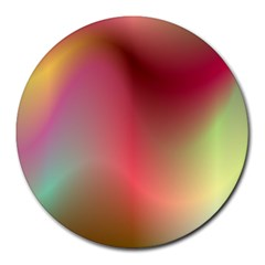 Colorful Colors Wave Gradient Round Mousepads