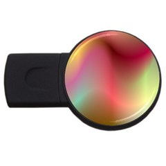Colorful Colors Wave Gradient Usb Flash Drive Round (4 Gb)
