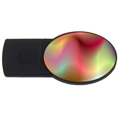 Colorful Colors Wave Gradient Usb Flash Drive Oval (4 Gb)
