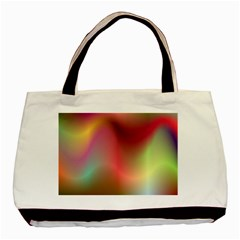 Colorful Colors Wave Gradient Basic Tote Bag