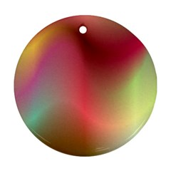 Colorful Colors Wave Gradient Round Ornament (two Sides)