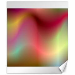 Colorful Colors Wave Gradient Canvas 8  X 10