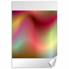 Colorful Colors Wave Gradient Canvas 12  X 18