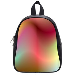 Colorful Colors Wave Gradient School Bag (small)