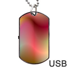 Colorful Colors Wave Gradient Dog Tag Usb Flash (one Side)