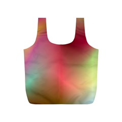 Colorful Colors Wave Gradient Full Print Recycle Bags (s)