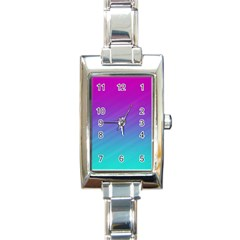 Background Pink Blue Gradient Rectangle Italian Charm Watch