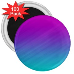 Background Pink Blue Gradient 3  Magnets (100 Pack)