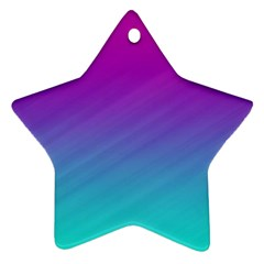 Background Pink Blue Gradient Star Ornament (two Sides)