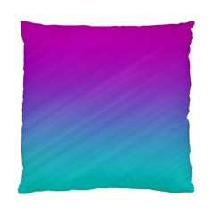 Background Pink Blue Gradient Standard Cushion Case (two Sides)