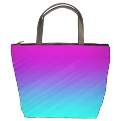Background Pink Blue Gradient Bucket Bags