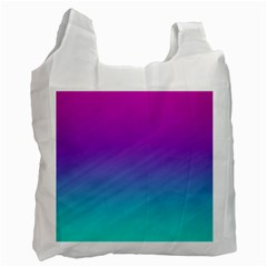 Background Pink Blue Gradient Recycle Bag (two Side)