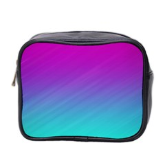 Background Pink Blue Gradient Mini Toiletries Bag 2 Side