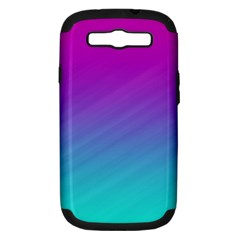 Background Pink Blue Gradient Samsung Galaxy S Iii Hardshell Case (pc+silicone)