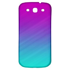 Background Pink Blue Gradient Samsung Galaxy S3 S Iii Classic Hardshell Back Case