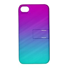 Background Pink Blue Gradient Apple Iphone 4/4s Hardshell Case With Stand