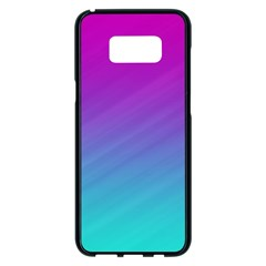 Background Pink Blue Gradient Samsung Galaxy S8 Plus Black Seamless Case