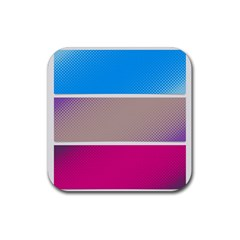 Pattern Template Banner Background Rubber Square Coaster (4 Pack)