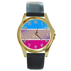 Pattern Template Banner Background Round Gold Metal Watch
