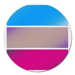 Pattern Template Banner Background Magnet 5  (round)
