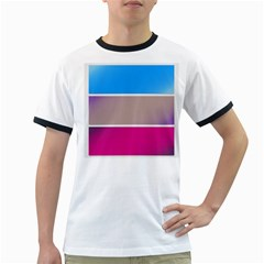 Pattern Template Banner Background Ringer T Shirts