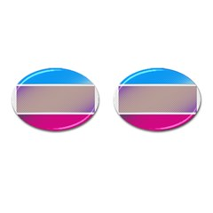 Pattern Template Banner Background Cufflinks (oval)