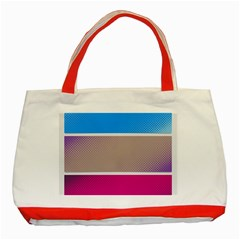 Pattern Template Banner Background Classic Tote Bag (red)