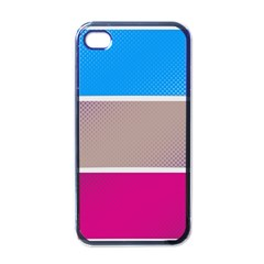 Pattern Template Banner Background Apple Iphone 4 Case (black)