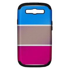 Pattern Template Banner Background Samsung Galaxy S Iii Hardshell Case (pc+silicone)