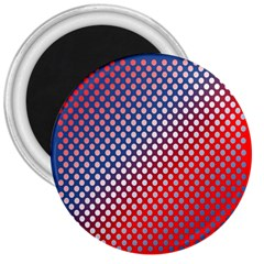 Dots Red White Blue Gradient 3  Magnets