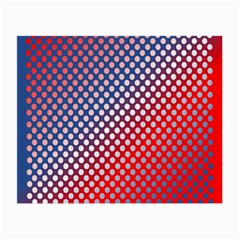 Dots Red White Blue Gradient Small Glasses Cloth