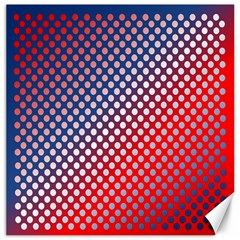 Dots Red White Blue Gradient Canvas 12  X 12
