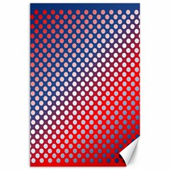 Dots Red White Blue Gradient Canvas 24  X 36