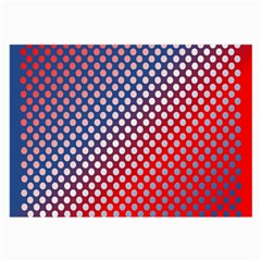 Dots Red White Blue Gradient Large Glasses Cloth (2 Side)