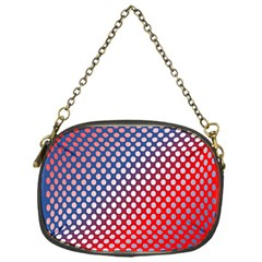 Dots Red White Blue Gradient Chain Purses (one Side)