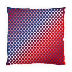 Dots Red White Blue Gradient Standard Cushion Case (two Sides)