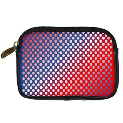 Dots Red White Blue Gradient Digital Camera Cases