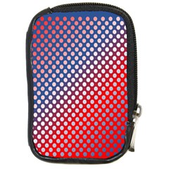 Dots Red White Blue Gradient Compact Camera Cases