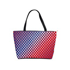 Dots Red White Blue Gradient Shoulder Handbags