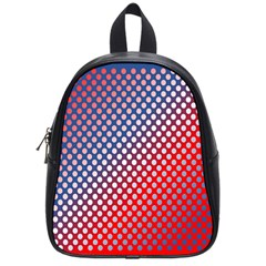 Dots Red White Blue Gradient School Bag (small)