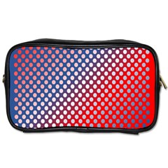 Dots Red White Blue Gradient Toiletries Bags 2 Side