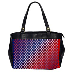 Dots Red White Blue Gradient Office Handbags