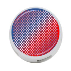 Dots Red White Blue Gradient 4 Port Usb Hub (one Side)