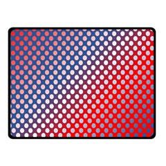 Dots Red White Blue Gradient Fleece Blanket (small)