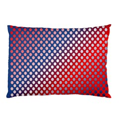 Dots Red White Blue Gradient Pillow Case (two Sides)