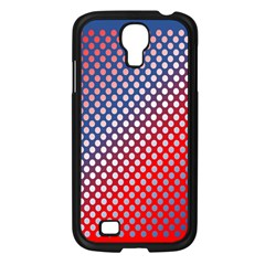 Dots Red White Blue Gradient Samsung Galaxy S4 I9500/ I9505 Case (black)