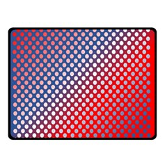 Dots Red White Blue Gradient Double Sided Fleece Blanket (small)