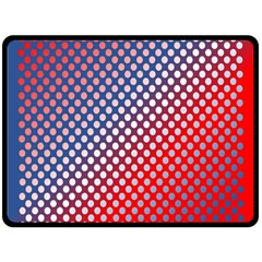 Dots Red White Blue Gradient Double Sided Fleece Blanket (large)