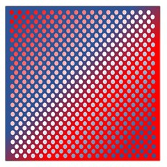 Dots Red White Blue Gradient Large Satin Scarf (square)